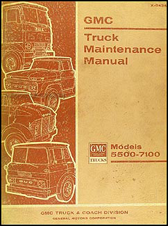 1964-1965 GMC 5500-7100 Repair Manual Original Medium & Heavy Duty