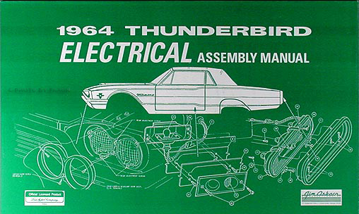 1964 thunderbird electrical assembly manual wiring diagrams 64 ford t bird tbird | ebay wiring diagram for 1966 ford thunderbird wiring diagram for 1964 ford thunderbird