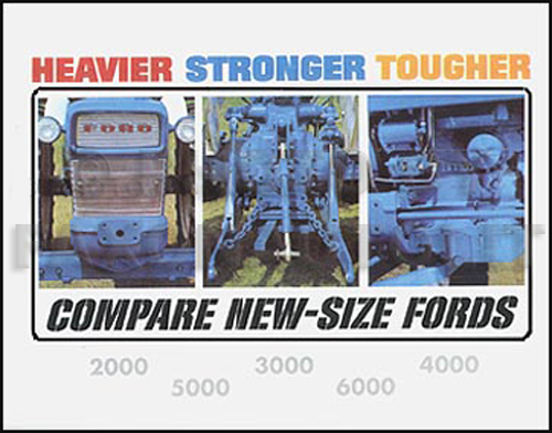 1965 66FordHeavierStrongerTougherTractorrsl 1965 1966 ford tractor reprint color brochure 2000 3000 4000 5000 6000 1963 ford 2000 tractor wiring diagram at eliteediting.co