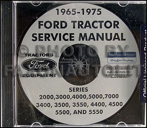 1975 Ford 2000 Tractor Parts : Ford tractor  shop manual cd