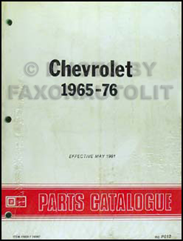 1965-1976 Chevy Canadian Parts Catalog Original Impala Caprice Bel on 65 ford mustang wiring diagram, 65 vw bug wiring diagram, 1965 chevy truck wiring diagram, 06 impala starter wiring diagram, 65 ford ranchero wiring diagram, 65 buick skylark wiring diagram, 65 buick electra wiring diagram, 1965 chevy impala wiring diagram, 1961 impala wiring diagram, 65 pontiac gto wiring diagram, 65 lincoln continental wiring diagram, 65 ford thunderbird wiring diagram, 1964 chevy impala wiring diagram, 1962 chevy impala wiring diagram, 62 chevy impala wiring diagram, 65 ford galaxie wiring diagram, 63 chevy impala wiring diagram, 72 chevy impala wiring diagram, 66 chevy impala wiring diagram, 1965 chevy nova wiring diagram,