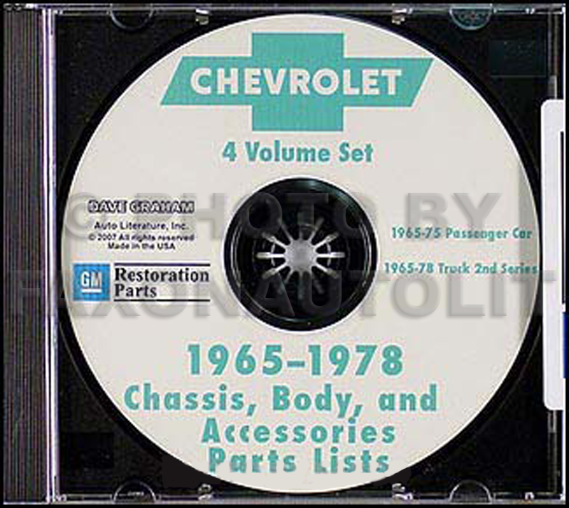 1967-1975 Chevy Illustrated Parts Book on CD-ROM