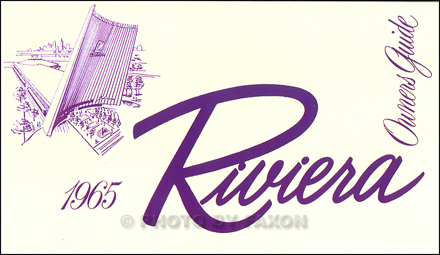 1965 Buick Riviera Reprint Body Repair Shop Manual