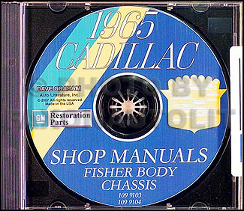 1965 Cadillac CD-ROM Shop Manual and Body Manual