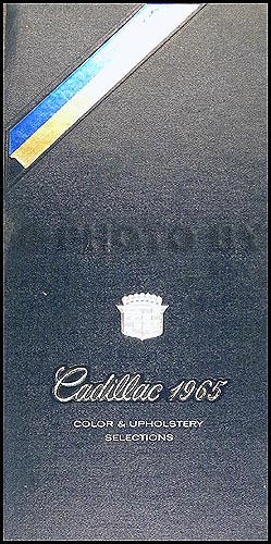 1965 Cadillac Color and Upholstery Dealer Album Small Size