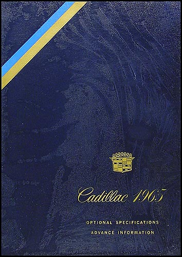 1965 Cadillac Preliminary Optional Specifications Book
