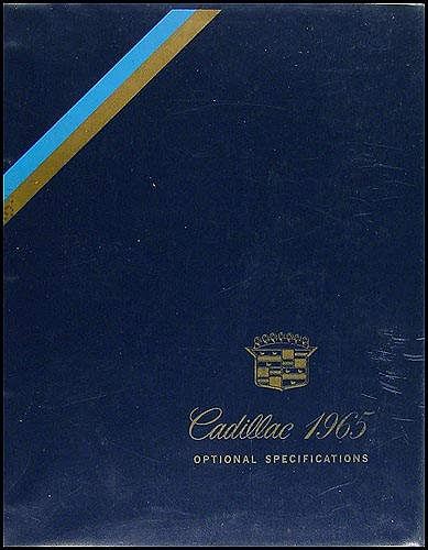 1965 Cadillac Optional Specifications Book Original