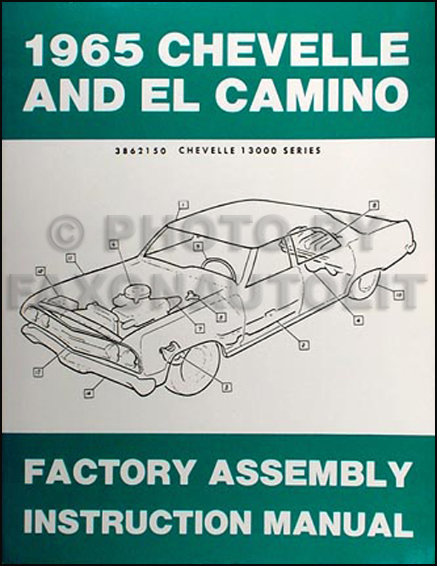 1965 Chevelle & El Camino Factory Reprint Assembly Manual
