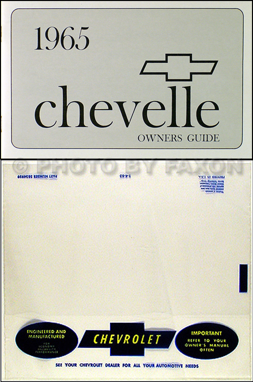 1965 Chevelle, SS, El Camino, Malibu Reprint Owner's Manual Package