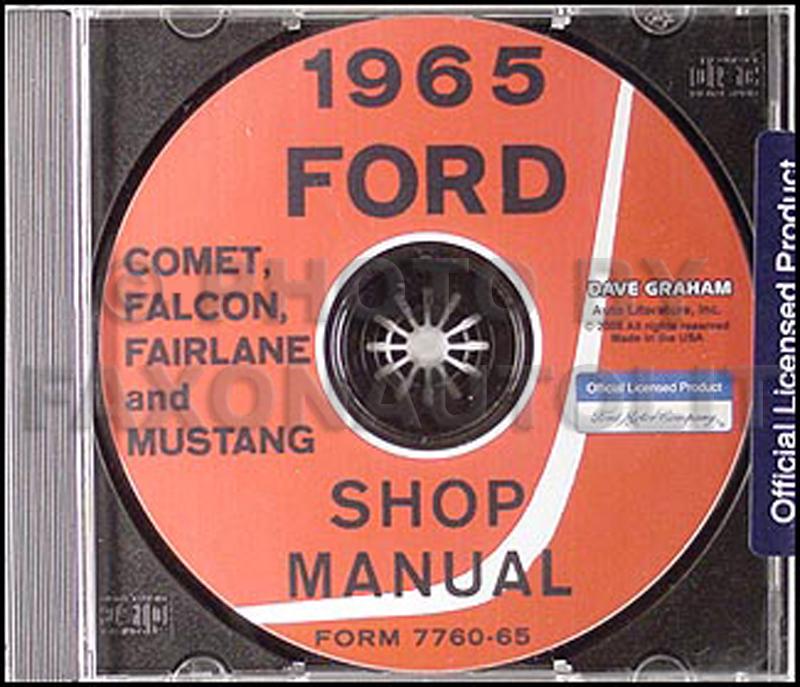 cd 1965 mustang falcon fairlane ranchero comet cyclone repair rh faxonautoliterature com 1965 ford falcon shop manual 1967 Falcon