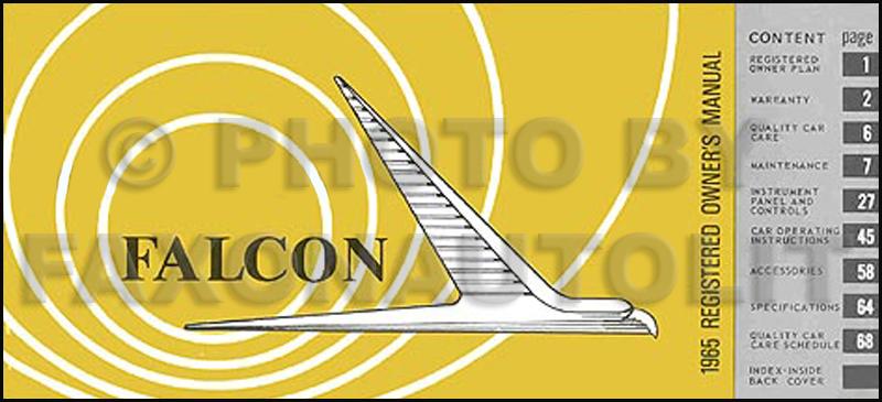 1965 ford falcon futura sprint ranchero owner s manual reprint rh faxonautoliterature com 1968 Falcon 1962 Falcon