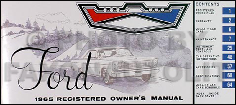 1965 Ford Galaxie And Ltd  U0026 Mercury Repair Shop Manual Reprint