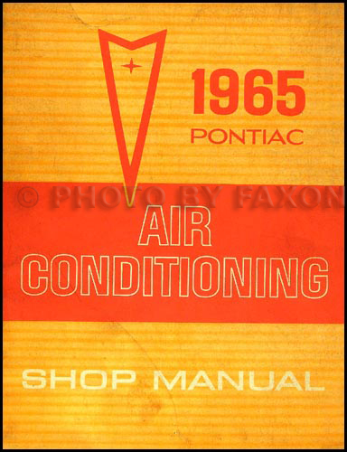 1965 Pontiac Air Conditioning Repair Manual Original