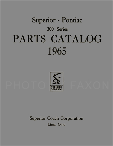 1965 pontiac superior hearse and ambulance parts book