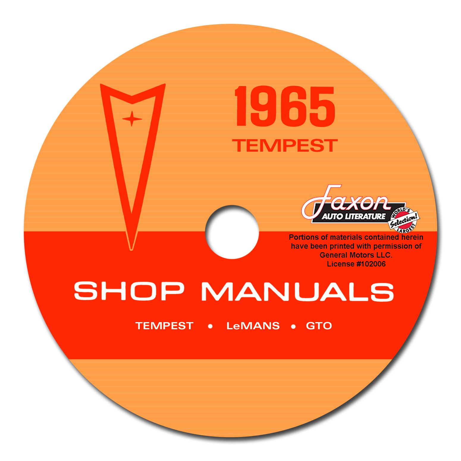 1965 Tempest  Lemans   U0026 Gto Wiring Diagram Manual Reprint