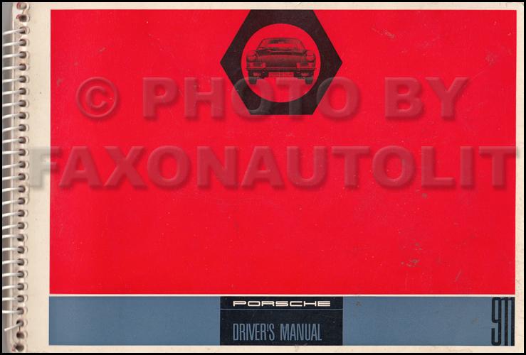 1965 porsche 911 owner s manual original rh faxonautoliterature com porsche 911 owners manuel porsche 911 owners manual 2017