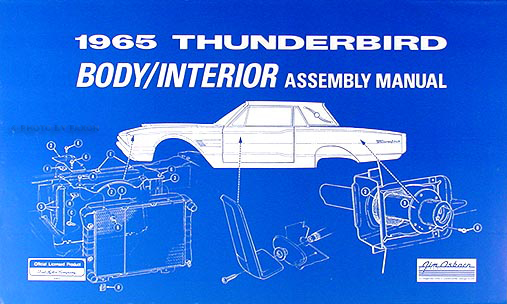 1965Thunderbirdrbam 1965 ford thunderbird body & interior assembly manual reprint Simple Wiring Schematics at virtualis.co