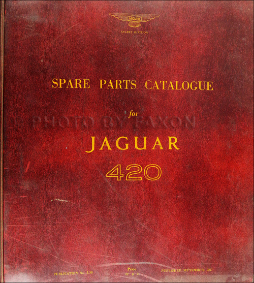 Jaguar Dealer Parts: 1966-1967 Jaguar 420 Parts Book Original