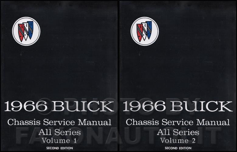 1966 Buick Shop Manual Gs Skylark Special Riviera Lesabre