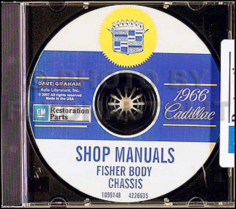 1966 Cadillac Shop Manual & Body Manual on CD-ROM