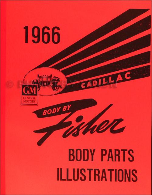 1966 Cadillac Fisher Body Parts Illustration Catalog Reprint