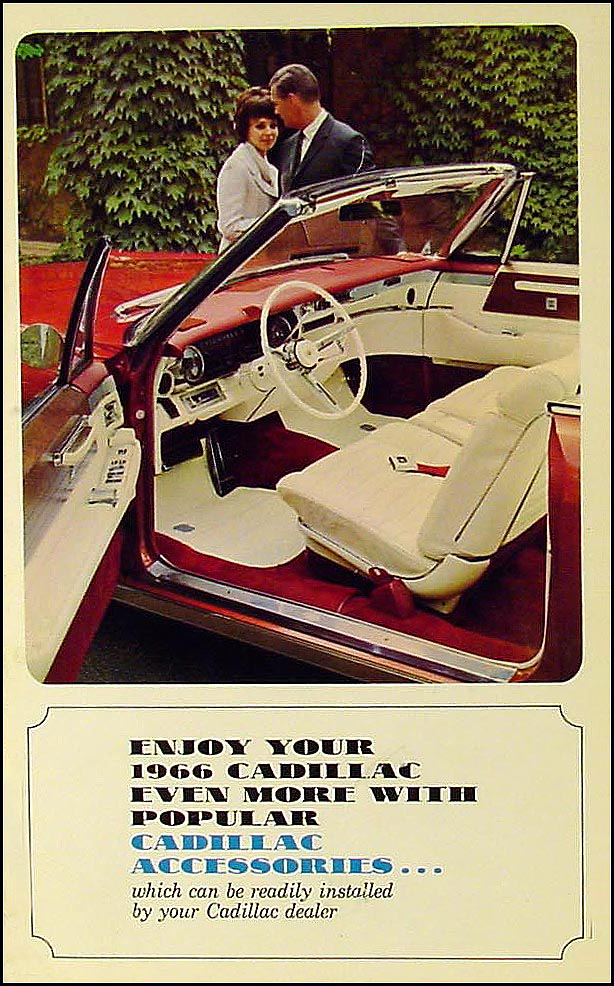1966 Cadillac Accessory Sales Catalog Original