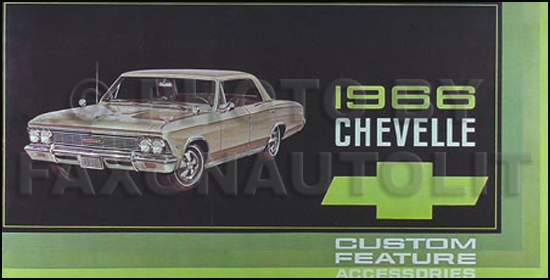 1966 Chevelle Reprint Owner Manual El Camino Ss  Ss