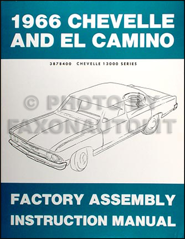 1966 chevrolet chevelle wiring diagram reprint bu ss el camino 1966 chevelle el camino assembly manual reprint