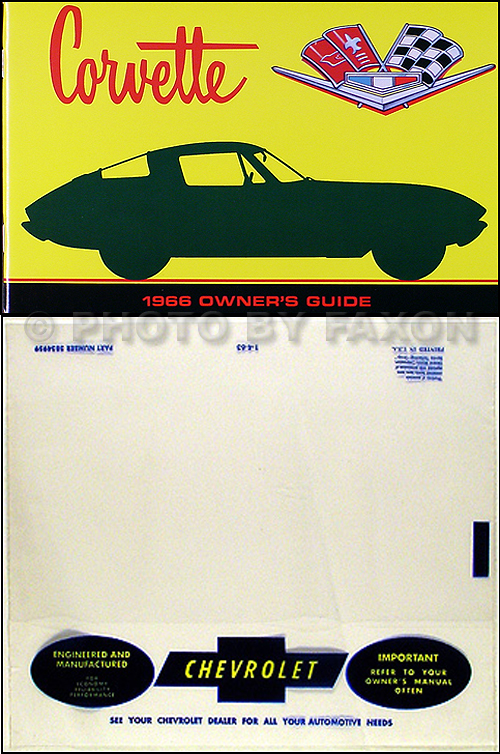 1966 Corvette Wiring Diagram Manual Reprint