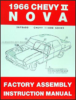 1966 Chevy II & Nova Bound Reprint Assembly Manual