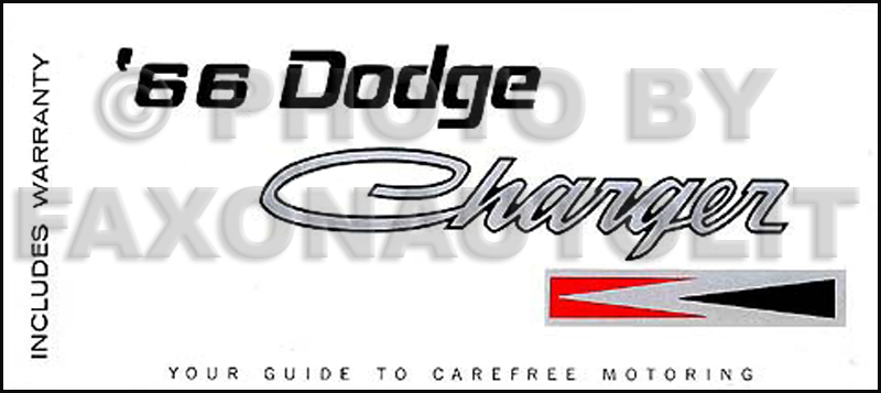 1966 Charger Wiring Diagram Manual Reprint