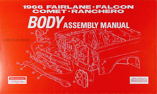 1966FairlaneFalconCometRancherorbam 1966 body assembly manual fairlane falcon ranchero comet caliente 1966 fairlane wiring diagram at aneh.co