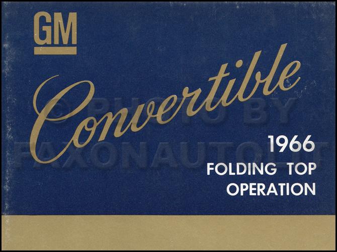 1966 Chevelle Reprint Owner Manual El Camino Ss  Ss