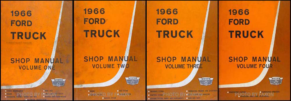 1966 Ford Truck Shop Manual Original 4 Volume Set