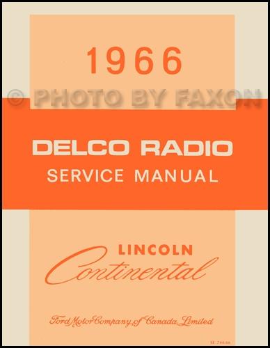 1966 Lincoln Continental Repair Shop Manual Original