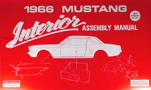 1966 Ford Cd Repair Shop Manual  U0026 Parts Book Mustang