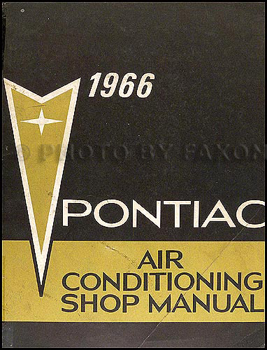 1966 Pontiac Air Conditioning Repair Manual Original