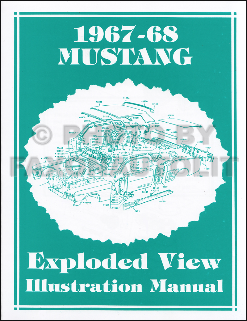1967 Ford Mustang Wiring Diagram Manual Reprint Detailed 1968 Parts Illustration Exploded View Horn