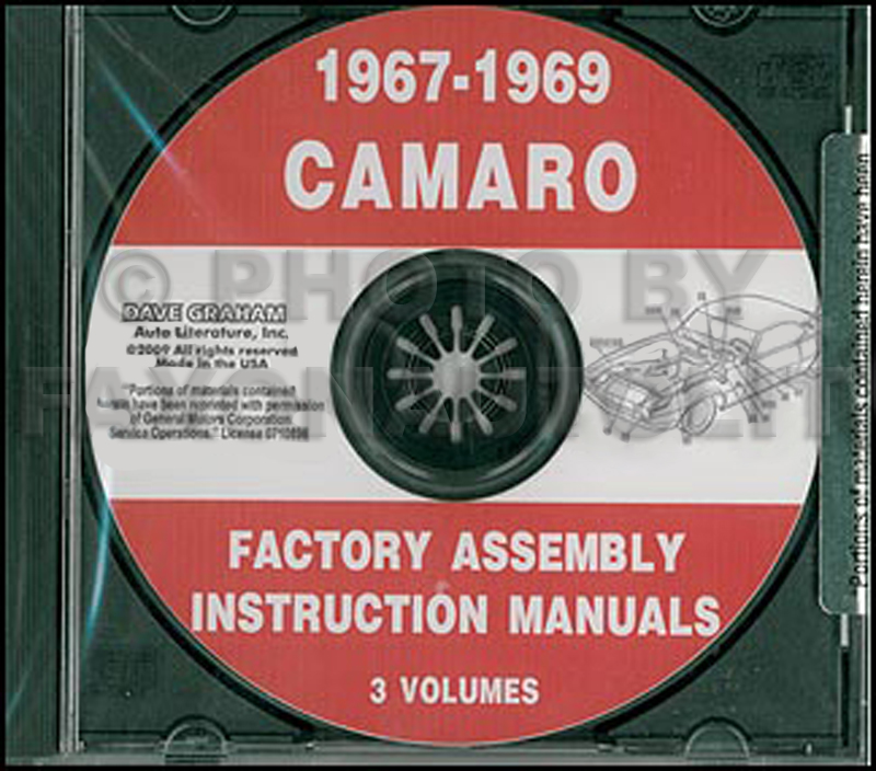 camaro rs gauge headlight wiring diagram manual reprint cd 1967 1969 camaro factory assembly manual including rs ss z28