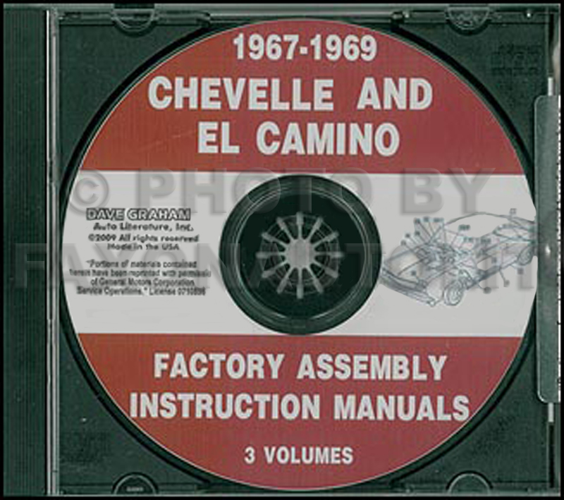 CD 1967-1969 Chevelle and El Camino Factory Assembly Manuals