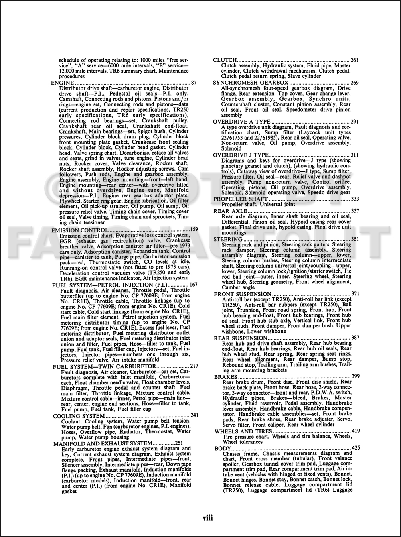 76 Tr6 Wiring Diagram Manual Of 1971 1976 Triumph Spitfire
