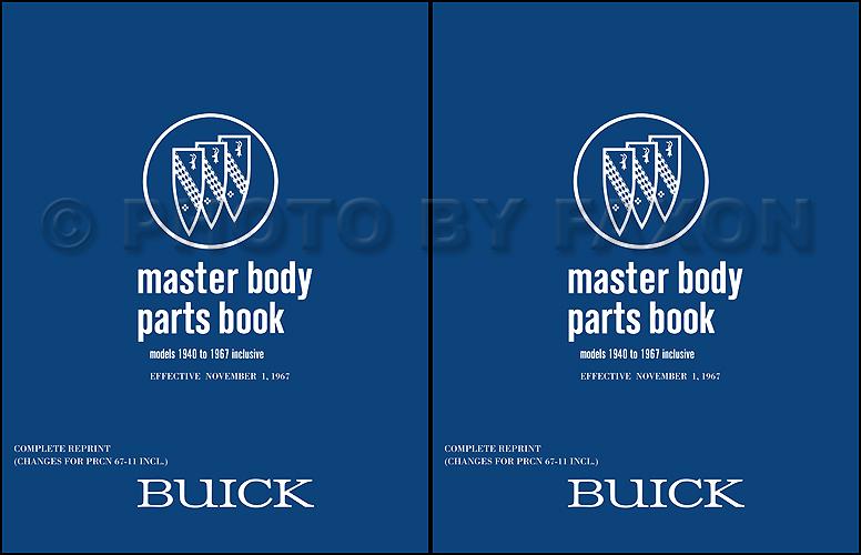 1961-1967 Buick Body Parts Book Reprint
