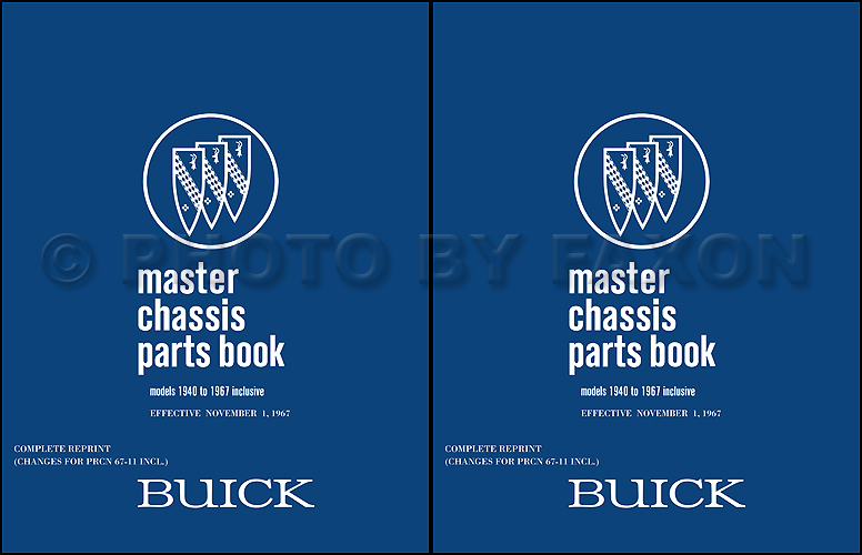 1961-1967 Buick Chassis Parts Book Reprint