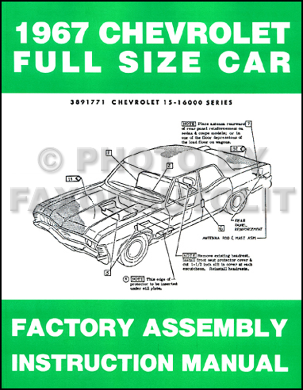 1967 chevrolet car assembly manual impala, ss bel air biscayne caprice on 1968 Camaro Wiring Diagram Chevy TBI Wiring Harness for 1969 chevy impala wiring diagram #39