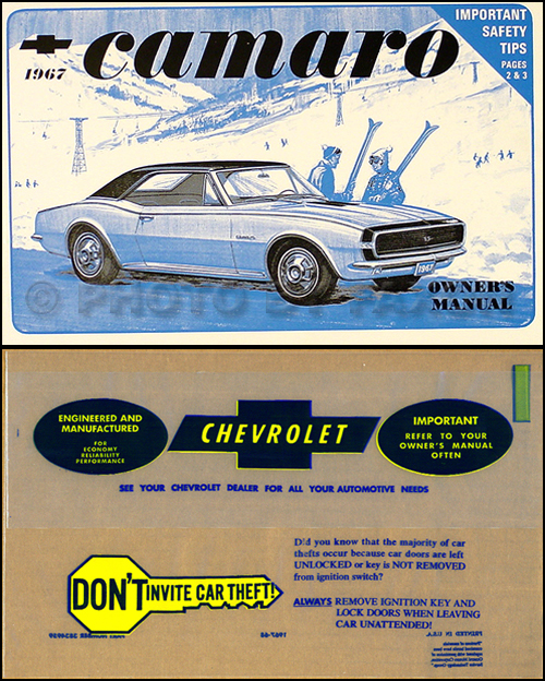 camaro rs gauge headlight wiring diagram manual reprint 1967 camaro z 28 z28 rs ss owner s manual package reprint