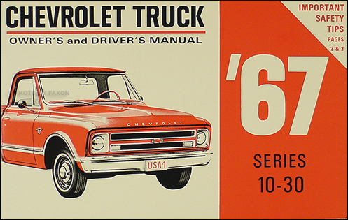 1967ChevyTruckROM 1967 chevrolet truck owner's manual reprint pickup suburban p chassis 1967 Chevy C10 Pick Up at mifinder.co