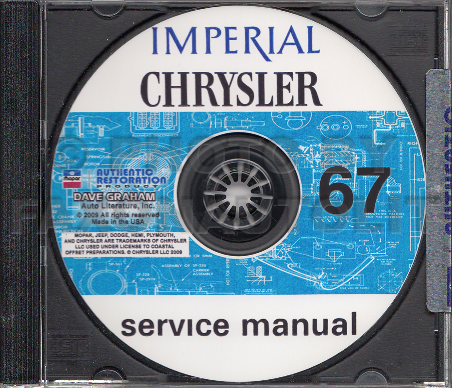 1967 Chrysler And Imperial Repair Shop Manual On CD