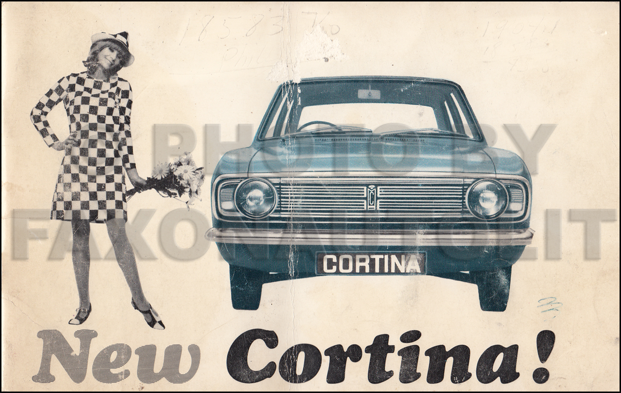 1967 Ford Cortina Owners Manual Original Right Hand Drive Engine Diagram