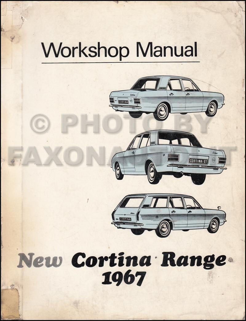 1967 Ford Cortina Repair Shop Manual Original Engine Diagram