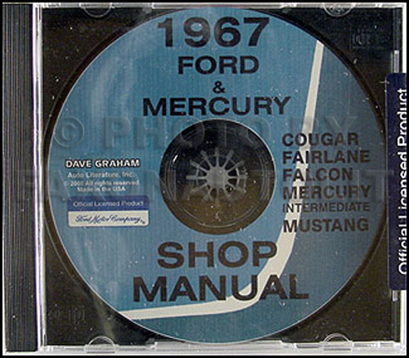 1967 Mercury Cd Shop Manual Cougar Comet Capri Cyclone Xr7